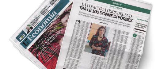 CORRIERE DELLA SERA Speciale Economia - Elena Salzano: «Io, comunicatrice del Sud tra le 100 donne d'Italia di Forbes»